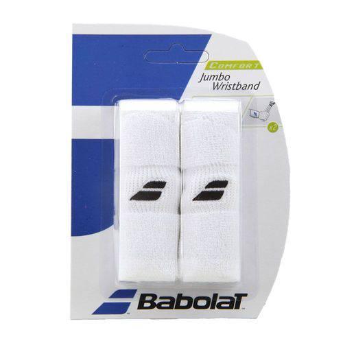 Munhequeira Babolat Jumbo com 02 Unidades Branca