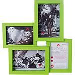 Mural de Fotos Quadri Fun 34x34cm Verde para 4 Fotos - Uatt?