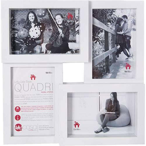 Mural de Fotos Quadri 32x32cm Branco para 4 Fotos - Uatt?