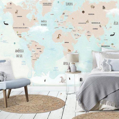 Mural Mapa Mundi Infantil