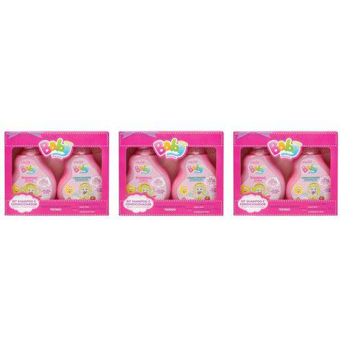 Muriel Baby Estojo Infantil Menina Shampoo + Condicionador 100ml (kit C/03)