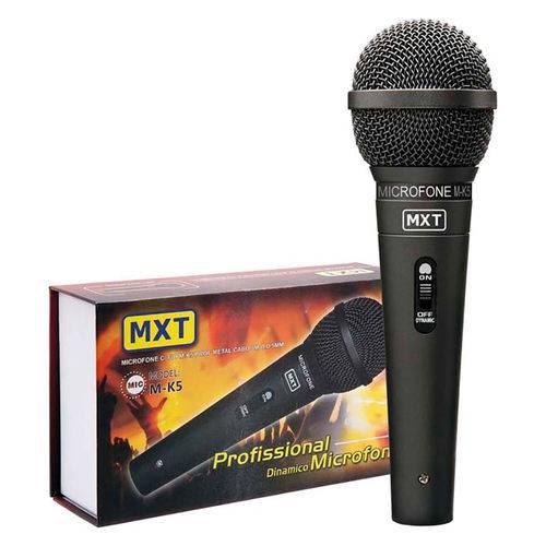 Mxt Microfone M-k5 Preto Metal C/ Fio 3 Mt 541022