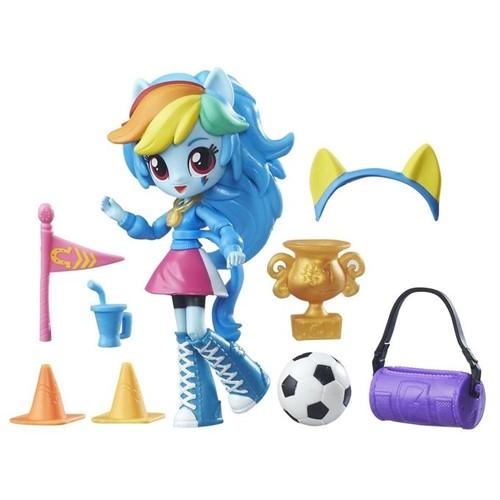My Little Pony - Boneca Mini Equestria Girls - Rainbow Dash Torcida do Colégio B8025 - MY LITTLE PONY