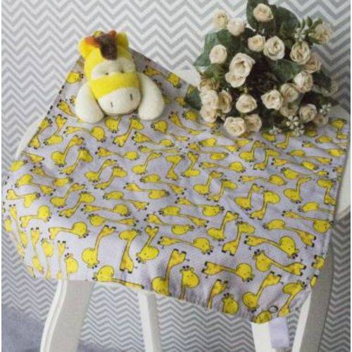 Naninha com Porta Chupeta Girafa Amarela