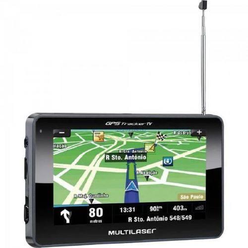 Navegador GPS com TV/Radio FM/Leitor de USB/SD GP034 Preto MULTILASER