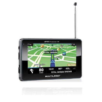 "Navegador GPS Multilaser Tracker III Tela 4.3"" Preto TV Digital - GP034 GP034"