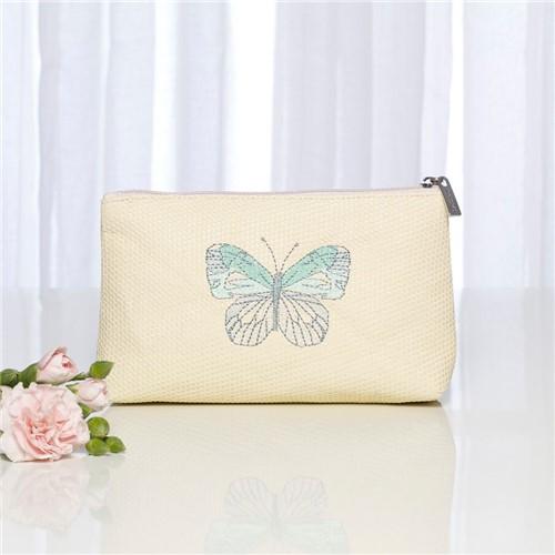 Nécessaire em Palha Mini Papillon - Palha - 19x5x11