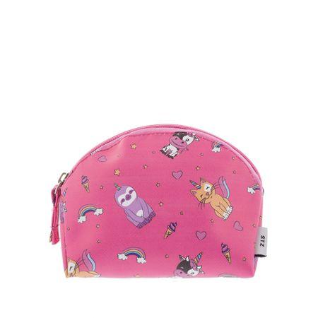 Necessaire STZ Pequena Animais Fabulosos Rosa -