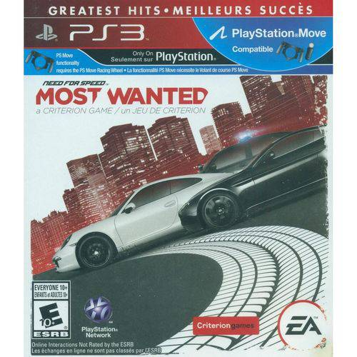 Need For Speed Most Wanted Greatest Hits - Ps3