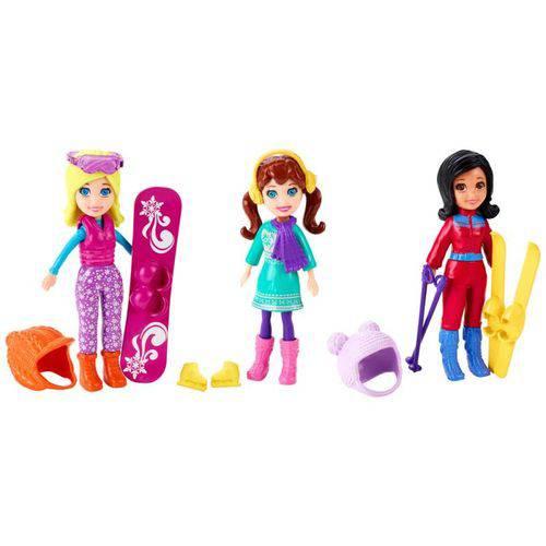 Neve com 3 Bonecas Polly Pocket - Mattel CFL41
