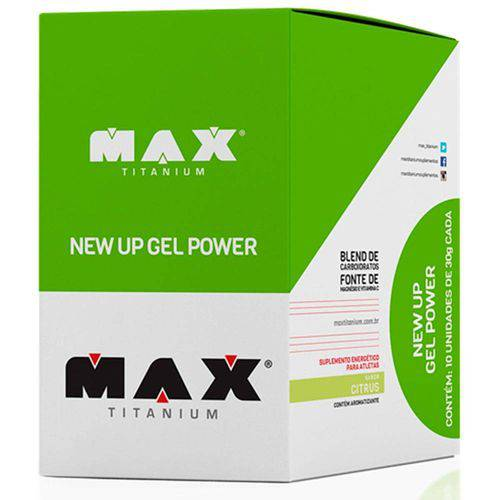 New Up Gel Power 10 Sachês de 30g - Max Titanium