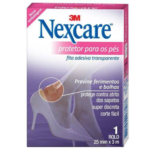 Nexcare Protetor P/ os Pés Transparente 25mmx3m