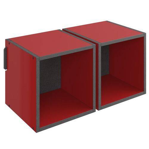 Nicho de Parede Decorativo Duplo Mov 1004 Vermelho - Be Mobiliário