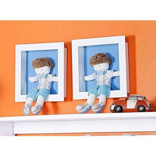 Nicho Decorado 02 Peças Coleção Aventura - Azul