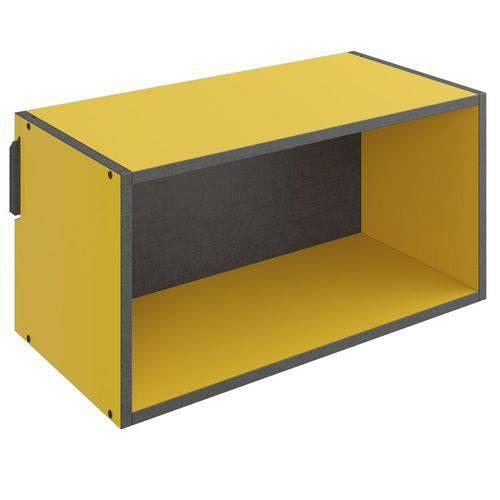 Nicho Retangular Decorativo Mov Amarelo - Be Mobiliário