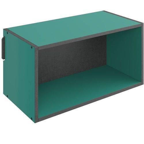 Nicho Retangular Decorativo Mov Turquesa - Be Mobiliário