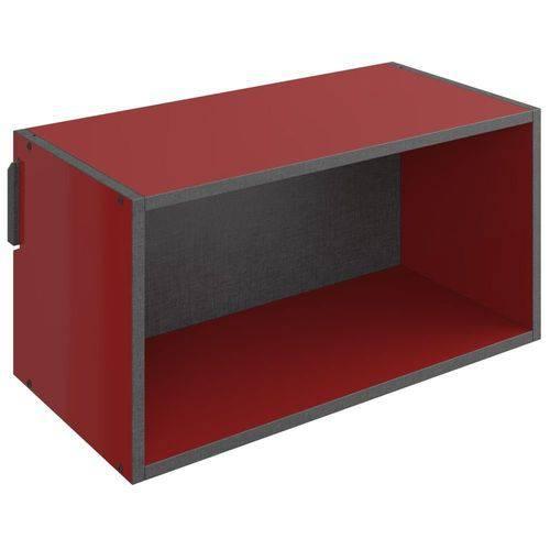 Nicho Retangular Decorativo Mov Vermelho - Be Mobiliário