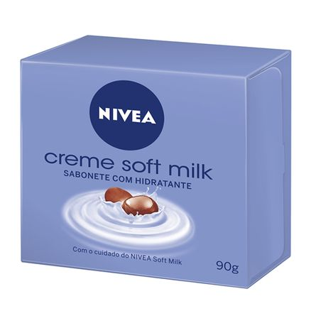 Nivea Sabonete Barra Soft Milk Box 90g
