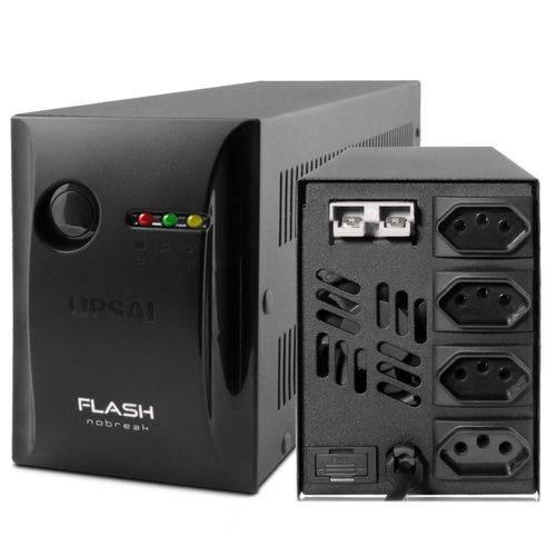 Nobreak Flash+ 800va 220v 04 Tomadas E220v-s220v 51070822 - Upsai