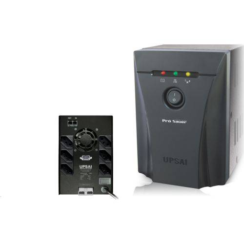 Nobreak Pro Saver 1800va Entrada Bivolt Saida 115v 2 Baterias 7 Ah 6 Tomadas - Upsai - 51271806