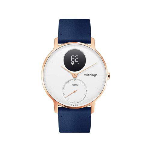 Nokia Smartwatch Hr Híbrido de Aço - Couro Azul