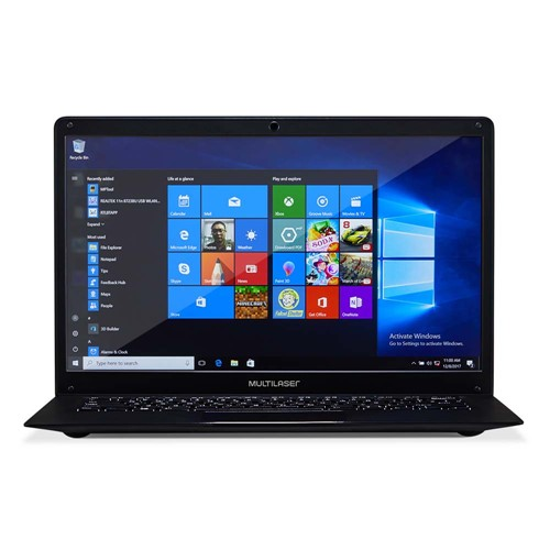 "Notebook Legacy Intel 14.1"" 500GB Windows 10 4gb Ram Preto"