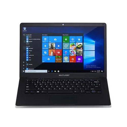 Notebook Legacy Windows 10 Home Intel Quadcore Tela Full HD 14.1 Pol. 4GB+64GB Preto Multilaser PC218
