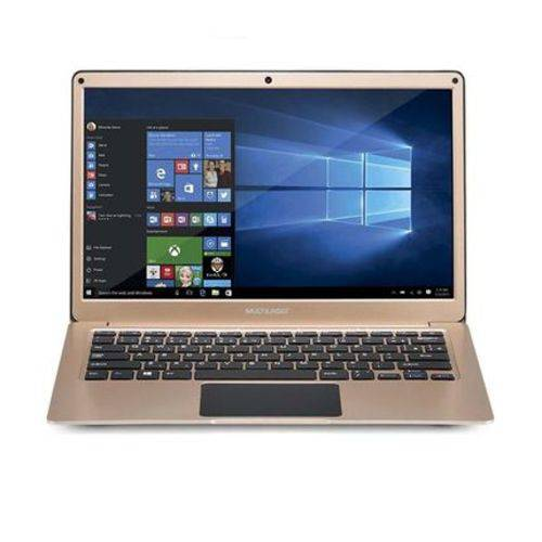 Notebook Multilaser 13.3 Pol 4GB 64GB Windows 10 Dual Core Dourado - PC223