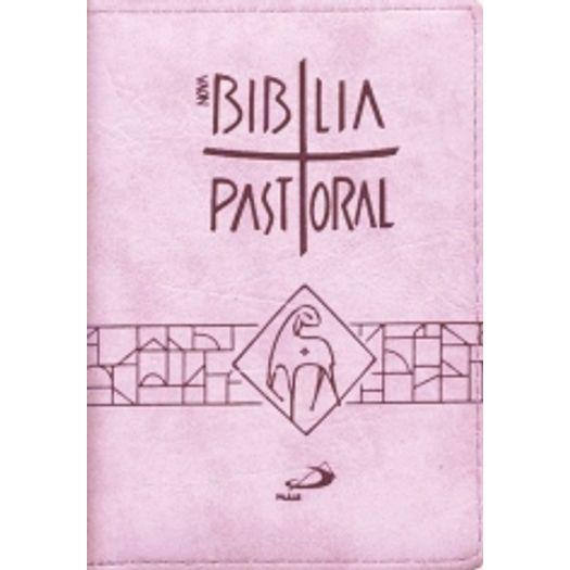Nova Biblia Pastoral - Bolso Ziper Rosa - Paulus