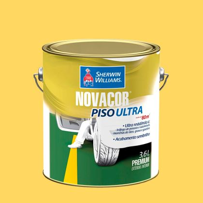 Novacor Piso Ultra 3,6 Litros Amarelo Demarcação