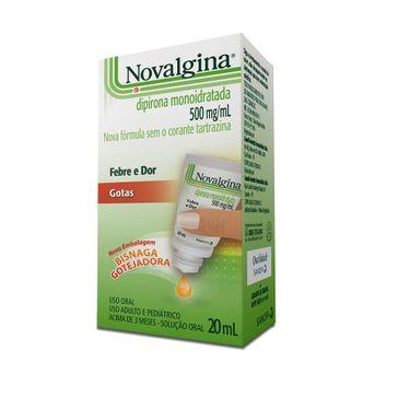 Novalgina 500mg/ml Sanofi Aventis 20ml Solução Oral