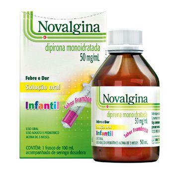 Novalgina 50mg/ml Sanofi Aventis 100ml Solução Oral