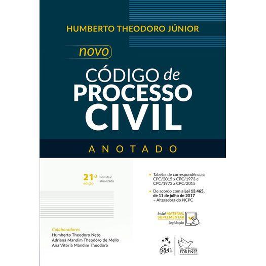 Novo Codigo de Processo Civil - Anotado - Forense - 21ed