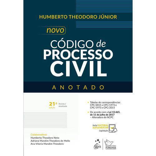 Novo Codigo de Processo Civil - Anotado - Forense