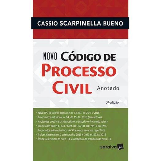 Novo Codigo de Processo Civil Anotado - Saraiva