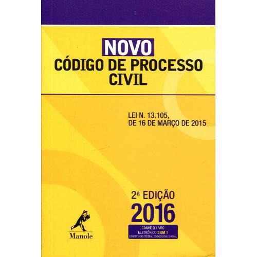 Novo Codigo de Processo Civil - Manole - 2ed
