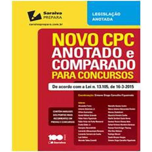Novo Cpc - Anotado e Comparado para Concursos