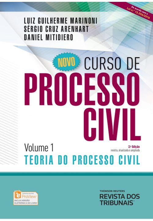 Novo Curso de Processo Civil - Vol. 1 - 2 Edição - Teoria do Processo Civil