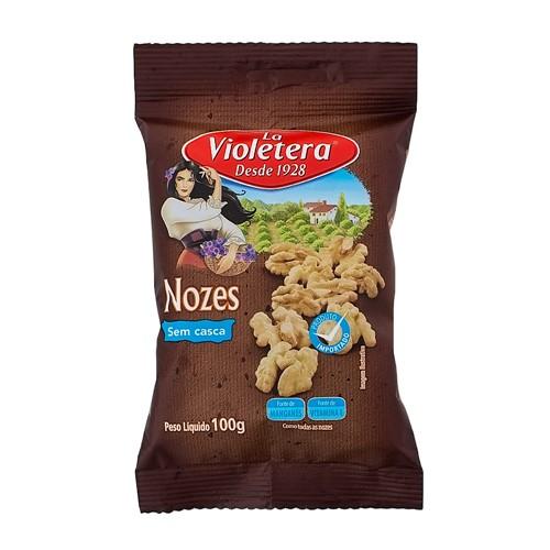 Nozes La Violetera Sem Casca com 100g