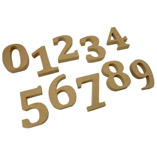 Números em MDF para Decoração 12cm de Altura e 1,8cm de Espessura em Madeira MDF Número 1