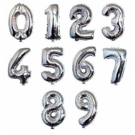 Números Metalizados 1,02mts Prata Número Metalizado 1,02mts Prata - Nº 2 - Unidade