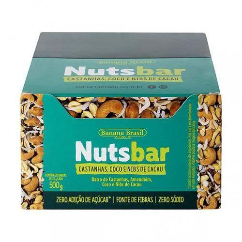 Nuts Bar Castanhas Coco e Nibs de Cacau 25g X 20 - Banana Brasil
