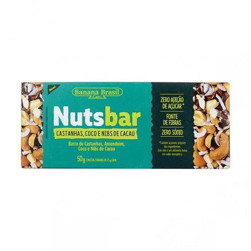 Nuts Bar Castanhas Coco e Nibs de Cacau 25g X 2 - Banana Brasil