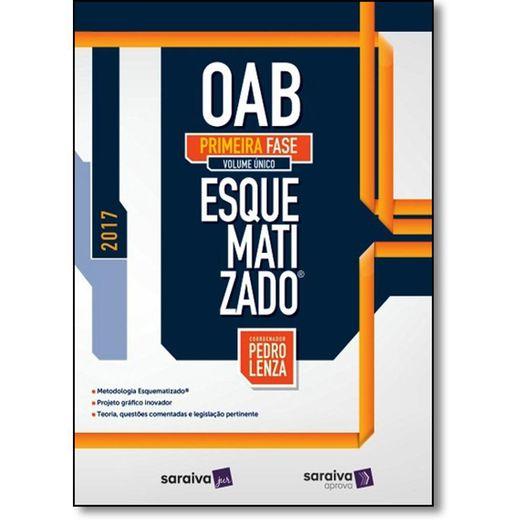 Oab Esquematizado - 1 Fase - Volume Unico - Saraiva - 1 Ed