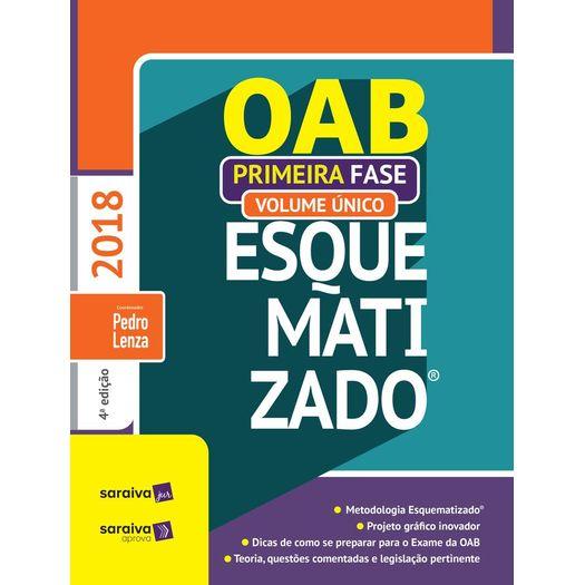 Oab Esquematizado - 1 Fase - Volume Unico - Saraiva - 4ed
