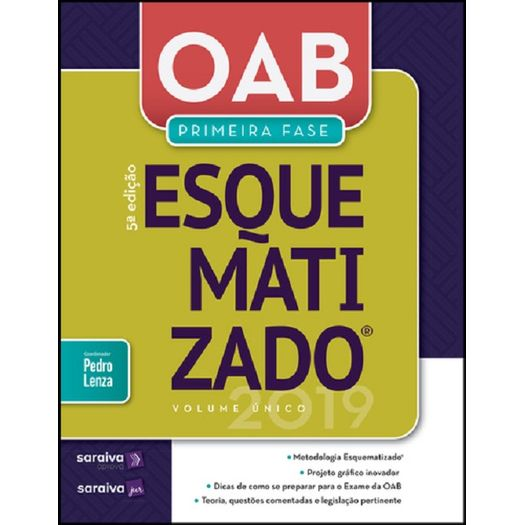Oab Esquematizado - 1 Fase - Volume Unico - Saraiva