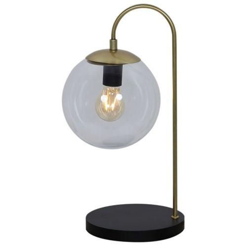 Óculo Luminária Mesa Dourado/preto