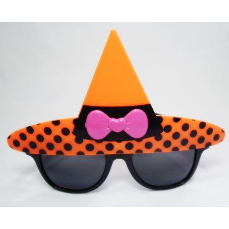 Óculos de Festa Chapéu de Bruxa Laranja