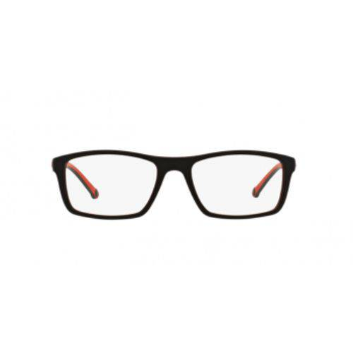 Óculos de Grau Arnette AN7083L 2294 Preto Vermelho Emborrachado Lente Tam 55