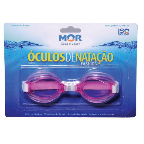 Óculos de Natação Infantil Fashion Mor Mergulho Praia Rosa